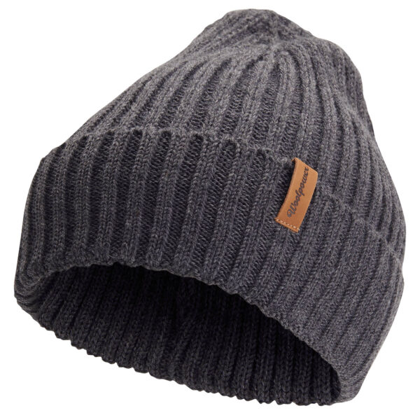 rib-knitted beanie