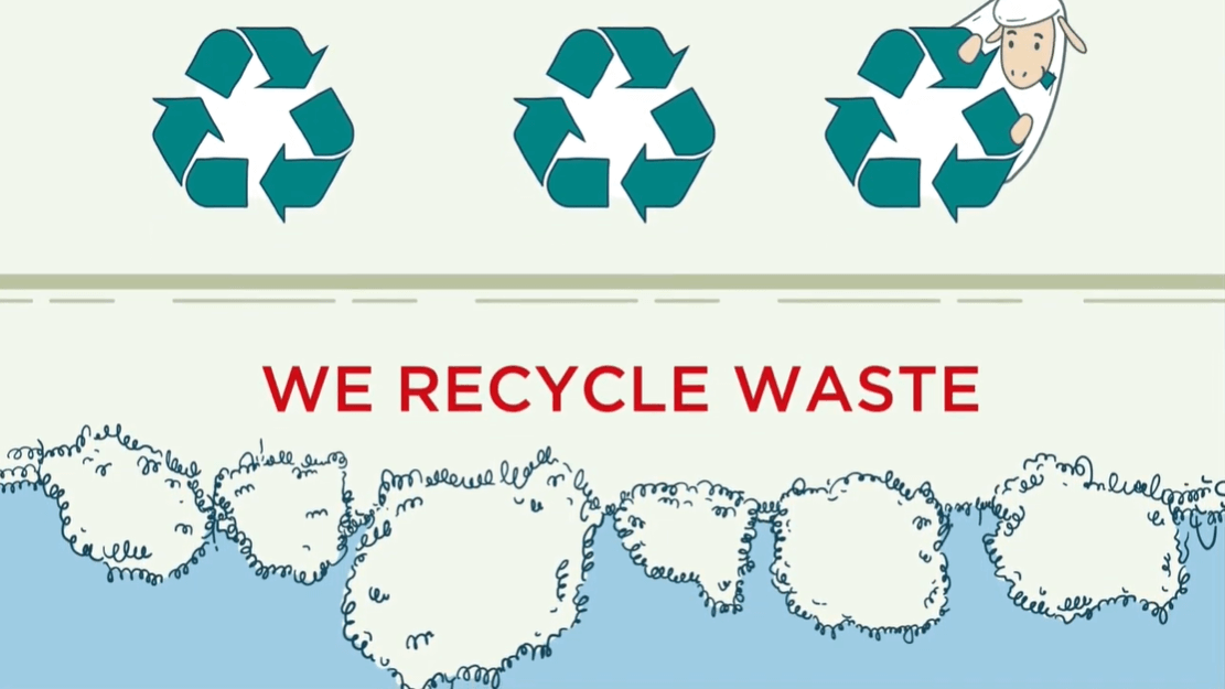 Recycled Woolpower waste