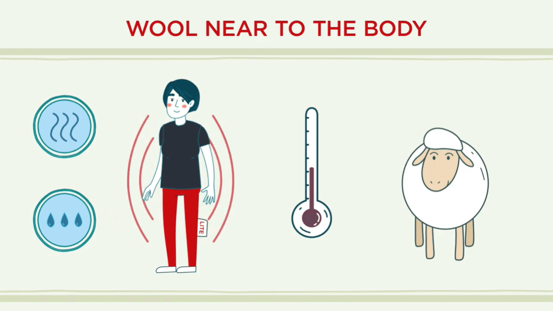 Wool near to the body