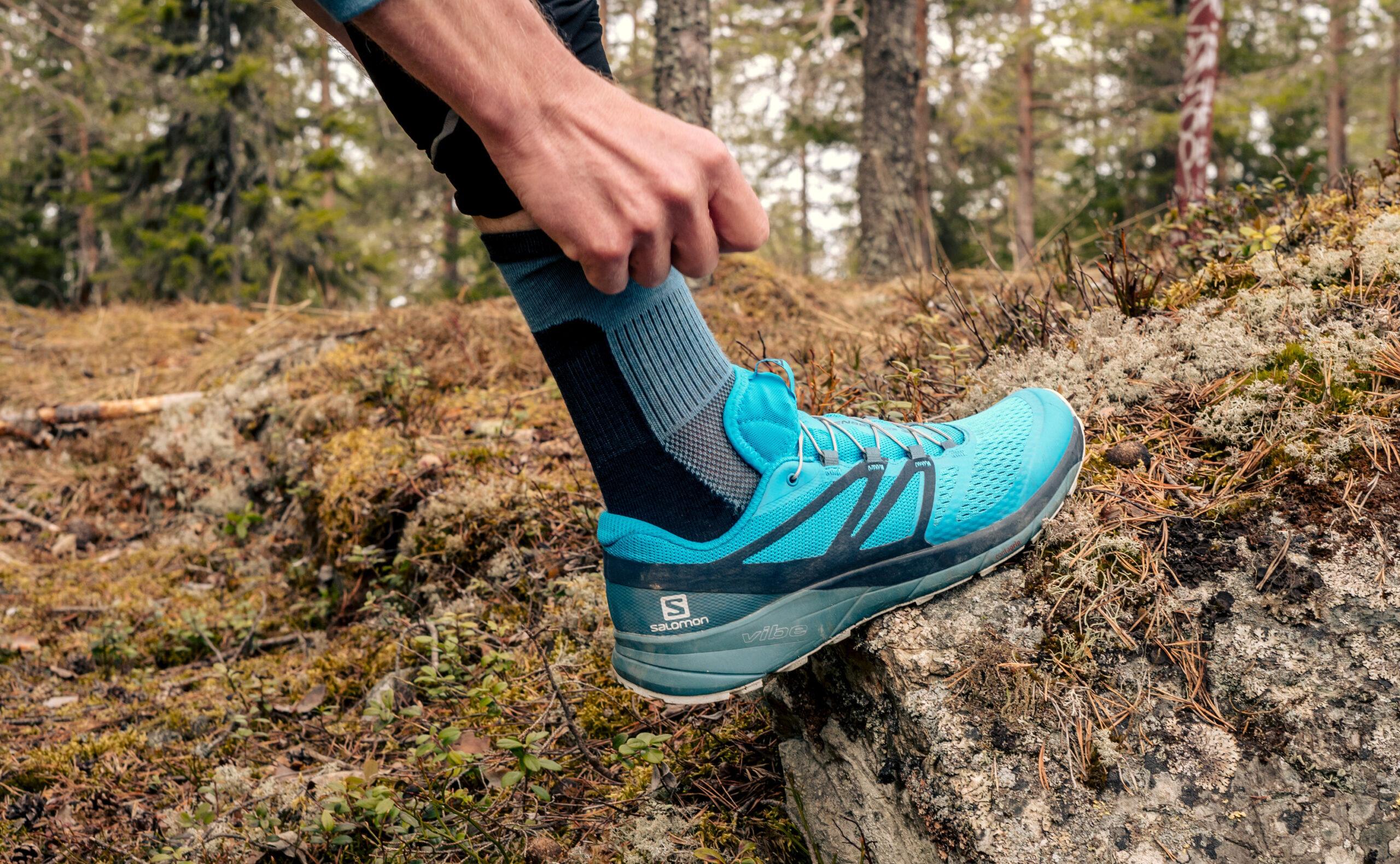 Skilled sock in running shoe