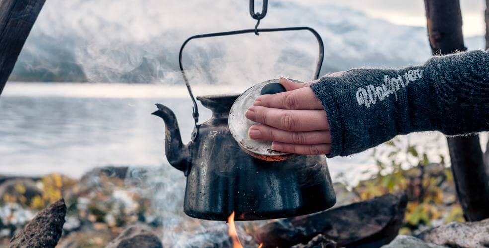 Coffee over fire