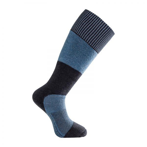 Tjock strumpa med knähögt skaft i mörkblå och ljusblå. Namn på produkten Socks Skilled Knee-High 400