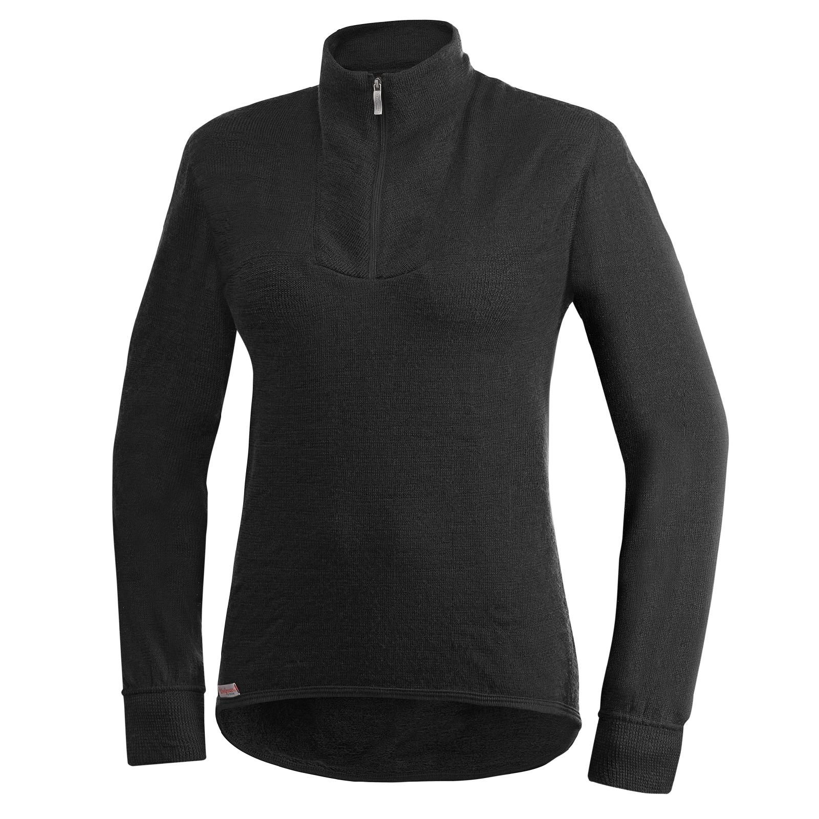 Woolpower Turtleneck 400 schwarz Isolation Shirt Merino Wolle